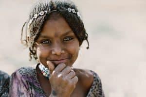 A desert smile