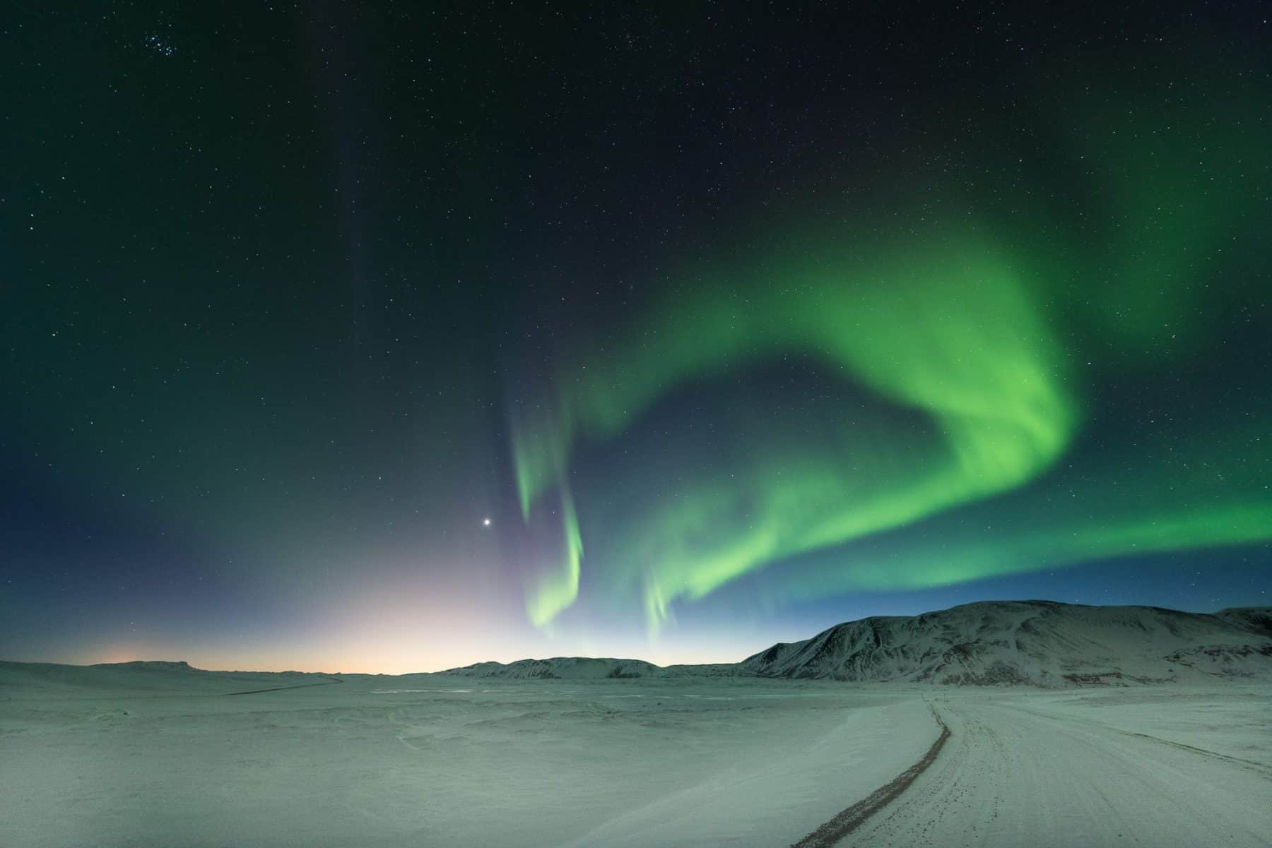 Perfect Aurora landscape - Iceland photographic tours