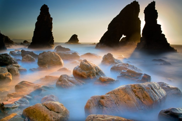 Crohy mist - long exposure - rocks