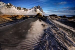 Frosted dunes and peaks