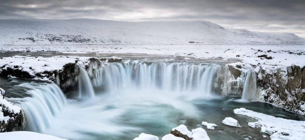 Godafoss scenic waterfall - Iceland