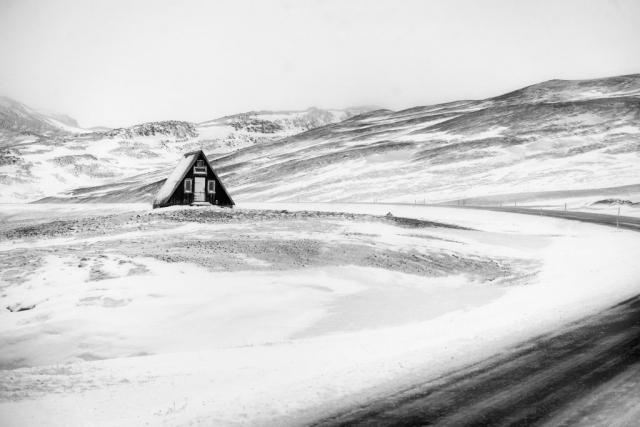 Snowed in Hut - Landscape - ice landscape