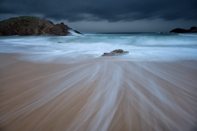 Long exposure beach photography