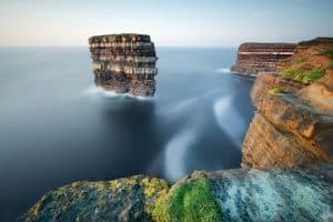 Stack and cliffs, Mayo