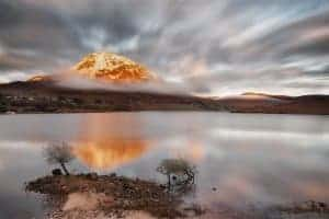 The golden crown of Errigal