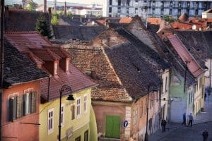 Old streets of Sibiu