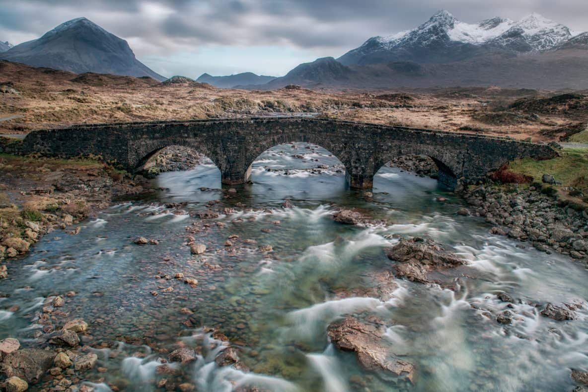 Sligachan bridge and the Cuillins