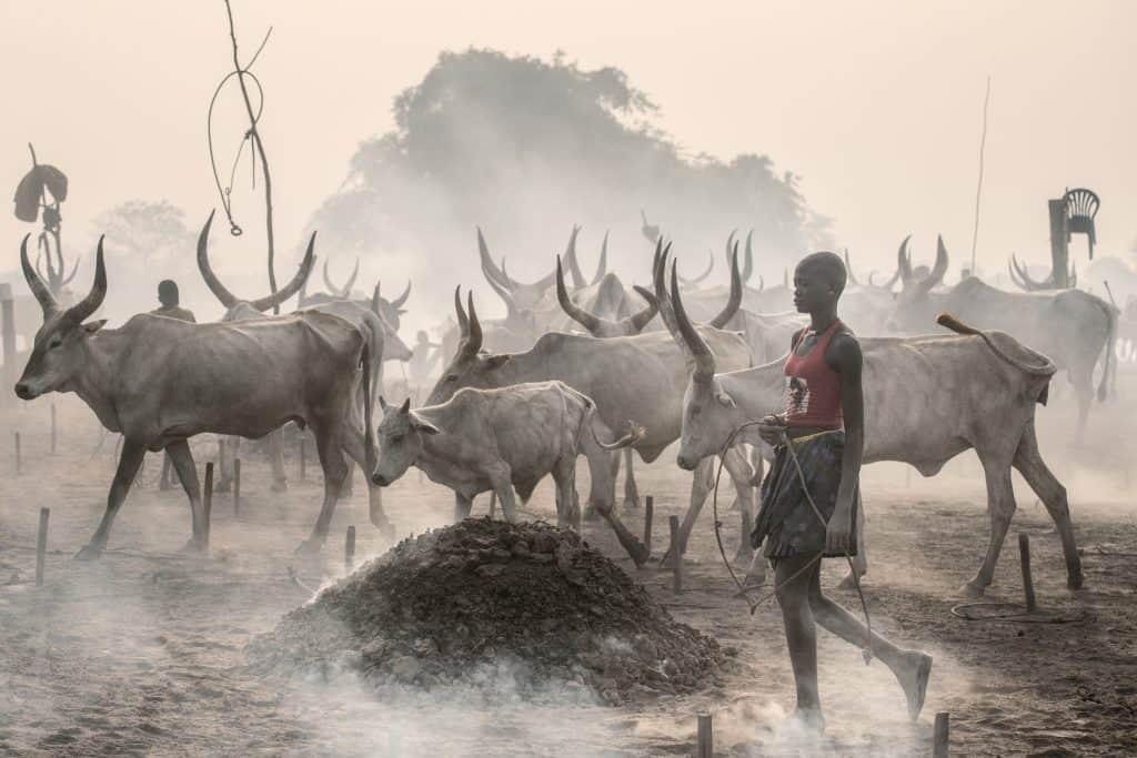 Mundari girl herder